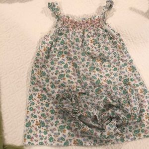 Baby Boden Dress and Bloomers 12-18M